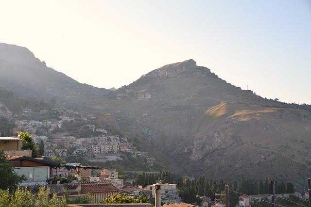 Taormina'dan Castelmola Manzarası