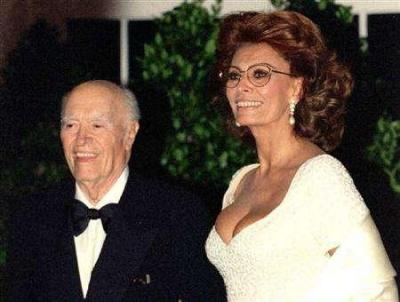 Carlo Ponti Sophia Loren Beyaz Saray davetinde