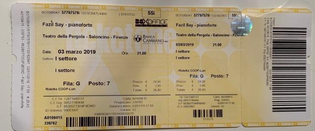 Fazıl Say İtalya Konser Bileti
