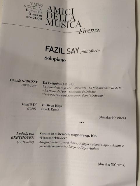 Amici Della Musica - Fazıl Say