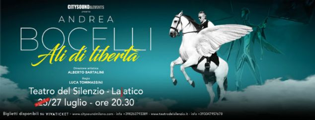 Andrea Bocelli 2019 Teatro del Silenzio Konser Afişi