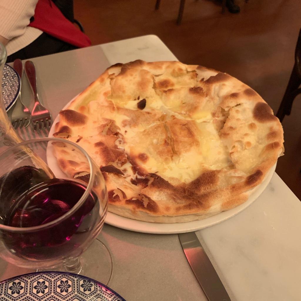 Focaccia con formaggio alle Liguria