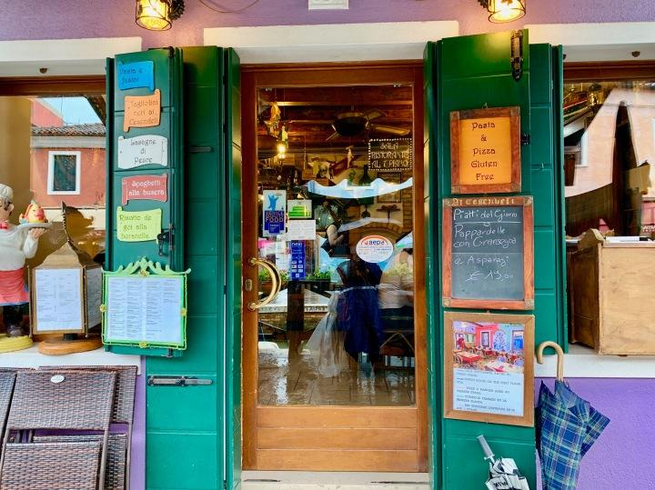 Burano Adası - Yemek Yediğimiz Lokanta